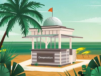 Beach! design app illustration ui