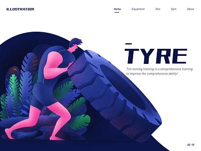 Type design illustration ui