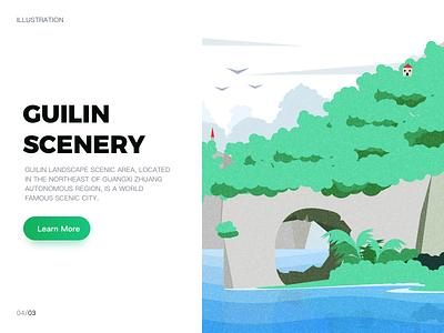 Guilin  Scenery app ui web design illustration