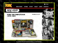 Punk Magazine - Website Layout