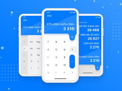 Calculator App vector design ui calculator apple app