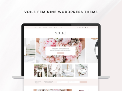 Voile Feminine WordPress Theme Genesis Framework wordpress theme blog design web design lifestyle fashion wordpress theme wordpress blog theme genesis blog