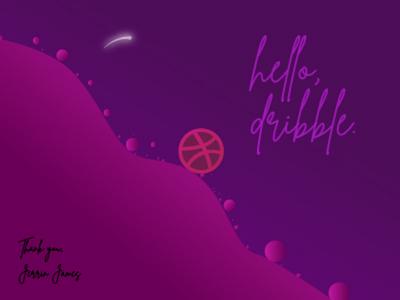 Hello Dribble. firstshot newshot dribbleone