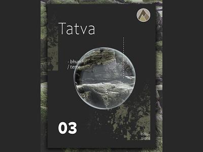 Tatva |  Earth black art graphic design abstact poster illustration design newshot nillusions postereveryday