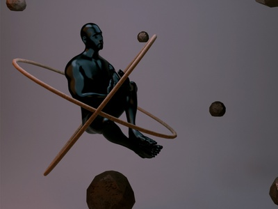 Levitate. nillusions fly abstract cgi blender 3d art 3d