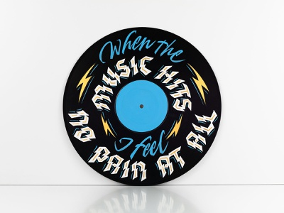 When The Music Hits radio rancid punk rock punk vinyl vinyl record gilding gold leaf sign painting signpainting handlettering lettering