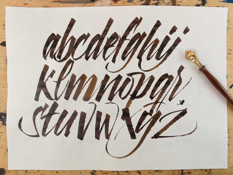 ruling pen alphabet by joan quirós dribbble dribbble
