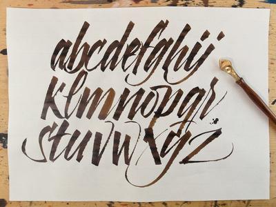 Ruling Pen Alphabet