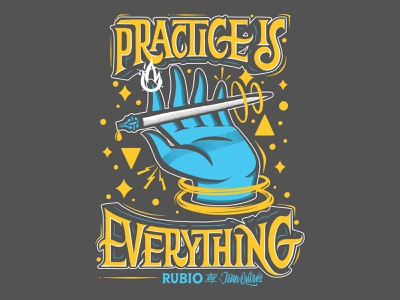 Practice Is Everything interlock skateboarding tattoo rubio photoshop procreate app procreate tshirtdesign tshirt practice illustration handlettering calligraphy lettering
