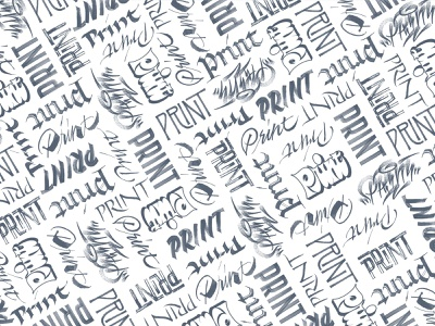 Print Pattern hand lettering pattern editorial cover dustjacket graffiti brushlettering gothic blackletter script handlettering calligraphy lettering