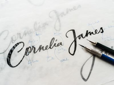 Cornelia James Pencil Sketch