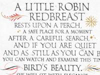 A Little Robin Redbreast