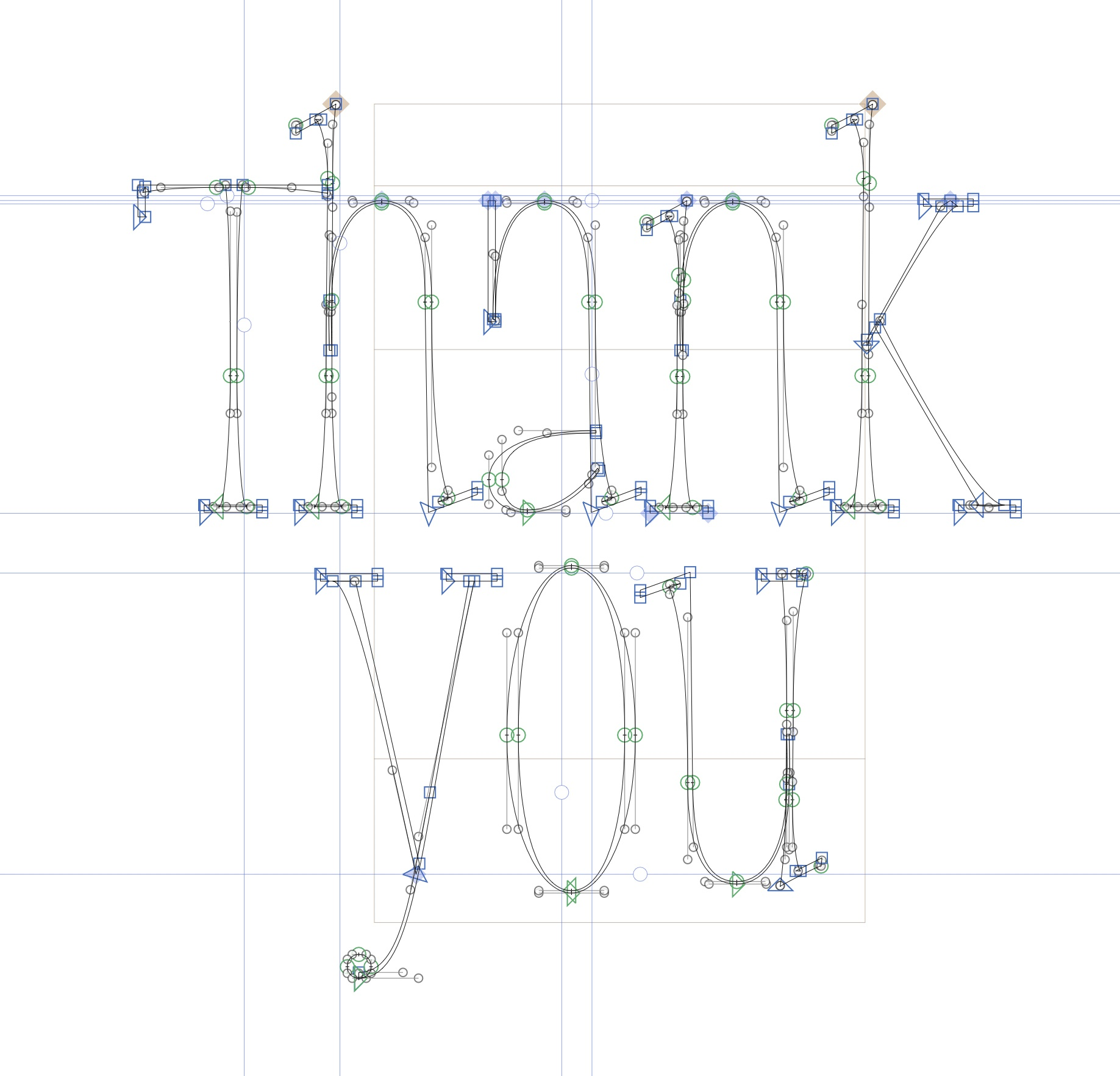 Thank you vector lettering joan quiros