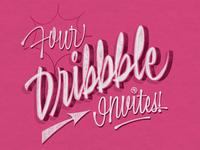 Four Dribbble Invites!