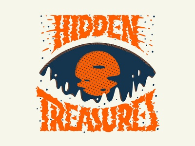 Hidden Treasures ipad pro porcreate eye latent image procreate film photography hidden treasures illustration handlettering lettering