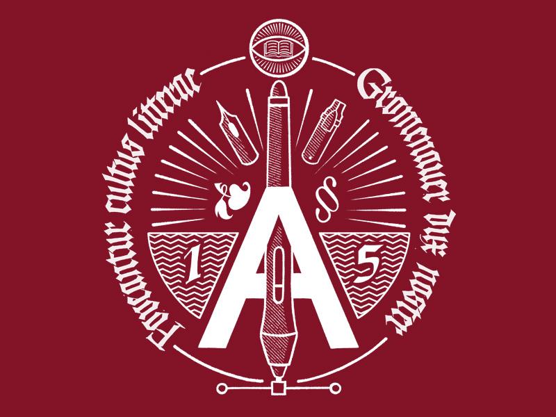Lletraferits 2019 typography emblem illuminati secret society event tshirt illustration logotype logo gothic blackletter calligraphy lettering
