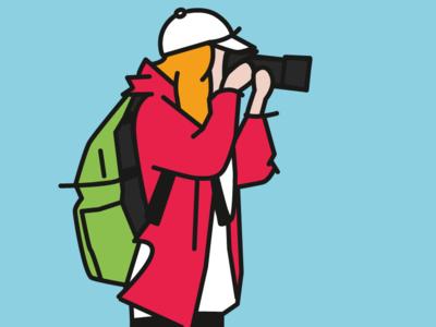 Camera camera flat vector illustration