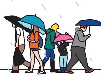 Pluviophile rain artwork vector illustration