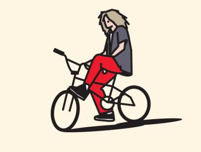 Bike artwork illustration bike