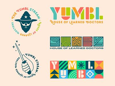 YUMBL Stream - Brand Assets type typography colorful specimen assets wizard magic wand logo streamer vector branding design mexico guadalajara