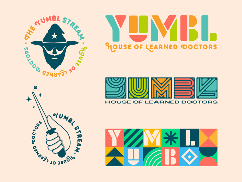 YUMBL Stream - Brand Assets type typography colorful specimen assets wizard magic wand logo streamer vector branding design mexico guadalajara