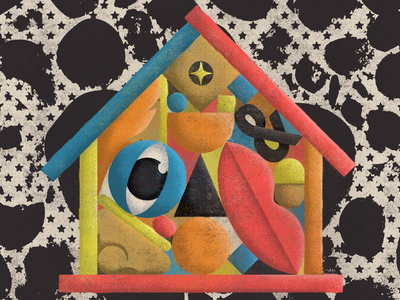Stay Home covid quarantine stay home lips nose eye stars textures design illustration mexico guadalajara