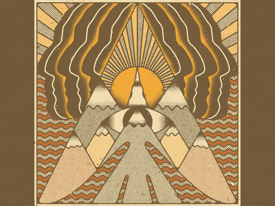 𓄿 𓅇 𓅯 natural visionary south america mountains bold sun distressed textures design illustration mexico guadalajara faces eagle aguila