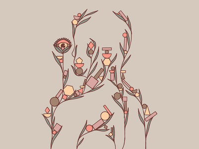 Blumen ✽ shapes geometric geometry silhouette abstract flowers blooming distressed textures design illustration mexico guadalajara