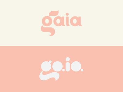 Gaia logo concepts mexico guadalajara custom type pink gaia feedback logo woman skin care beauty