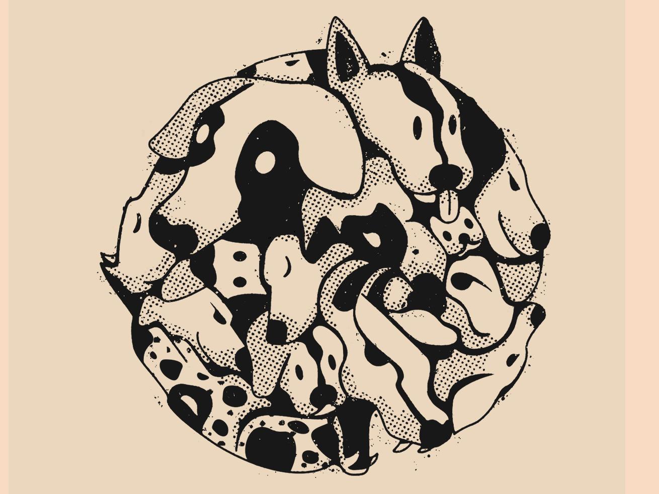 Perros dribbble