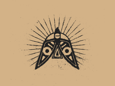 ✹ distressed earthy black geometric geometry bird symbol mark design textures sun illustration mexico guadalajara
