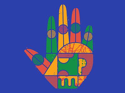 🤚🏽 vector colors design distressed halftones geometric geometry head halftone textures hand illustration mexico guadalajara