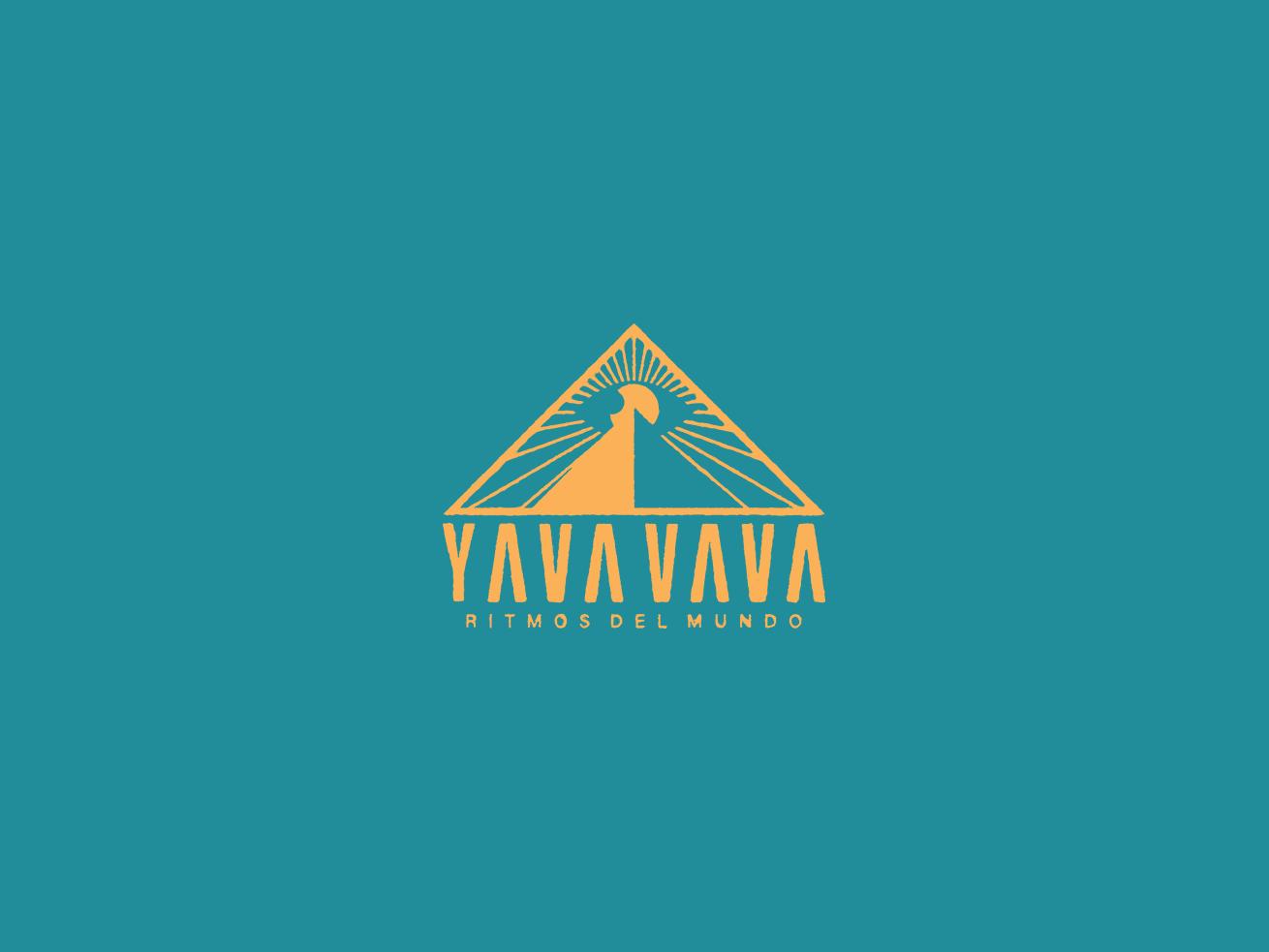 Yava Vava logo font logotype esoteric mystic pyramid eye sun vector branding design logo mexico guadalajara