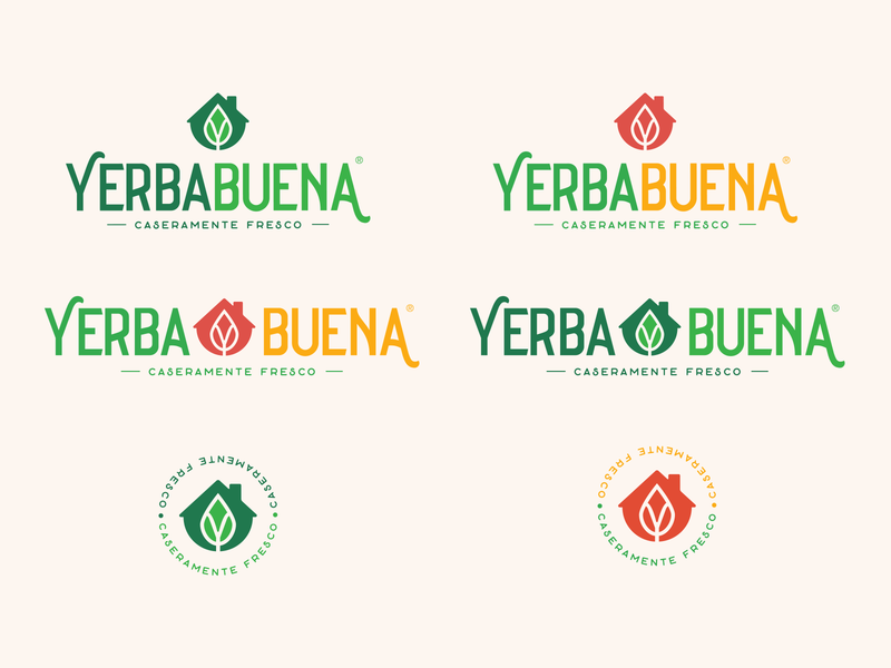 Yerbabuena design home peppermint colorfull traditional mexico city restaurant mexican food homemade branding logo guadalajara mexico