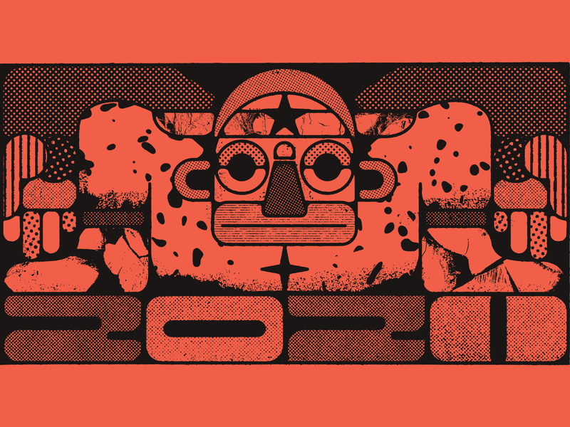 ✦2020★ 2020 distressed illustration bold guadalajara abstract halftone textures geometry aztec mexican mexico
