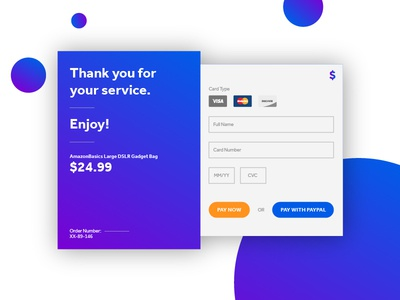 Daily UI #002 - Credit Card Form