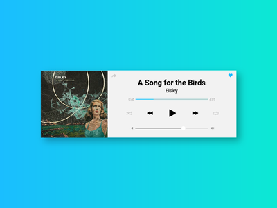 Daily UI #009 - Music Player volume application play app song player music ui daily dailyui daily100