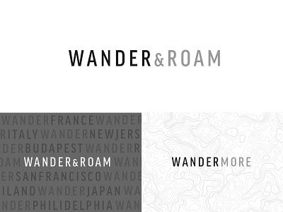 Wander & Roam - Branding minimal type logo website travel blog branding roam wander