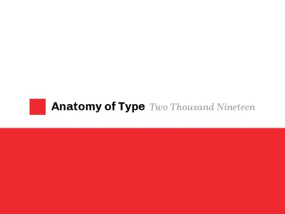 Anatomy of Type - 2019 Calendar print anatomy type calendar 2019 typography calendar anatomy of type