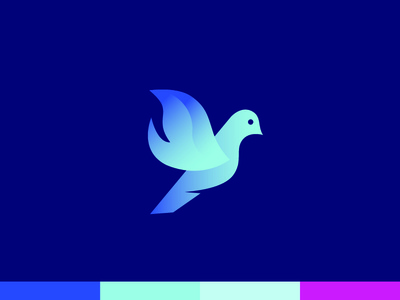 Dove Flame Mark mark logo brand church ministries blue flame fire dove