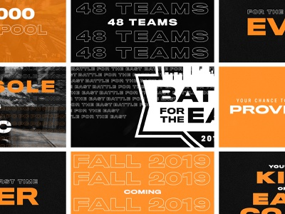 Battle for the East - Trailer Stills typography motiongraphics motion trailer tournament gaming esports branding
