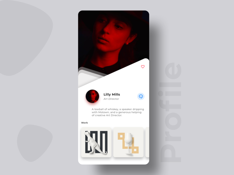 Profile Screen mobile app design mobile app mobile ui profile screen user profile profile show profile work sketch art director small profile view art ux uidesign design ui app clean ui trending