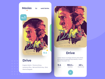 Movie Introduction App new design show review movie poster movie introduction minimal sketch trending ui clean ui rating review tv show movie app movie app design mobile ui application app