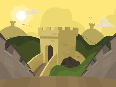 Level 01 Scenery scenery cartoon landscape illustration
