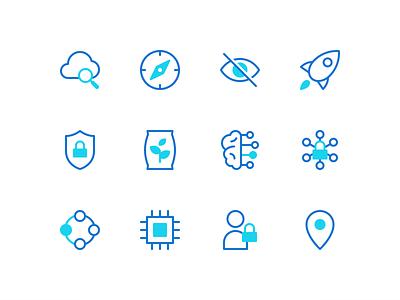 Data Governance Icons icons design