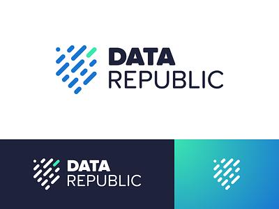Data Republic Branding Concept logo identity design identity concept branding brand identity brand design
