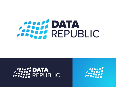 Data Republic Branding Concept logo concept identity design identity branding brand identity brand design