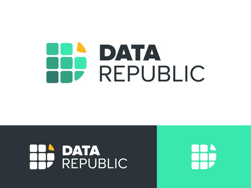 Data Republic Branding Concept logo identity identity design concept branding brand identity brand design