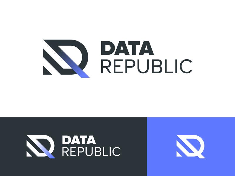 Data Republic Branding Concept logo identity design indentity concept branding brand identity brand design