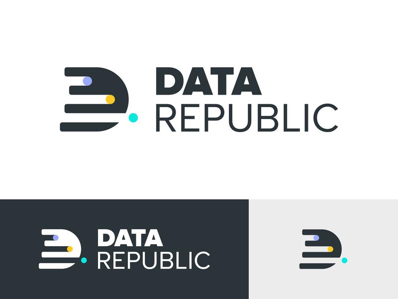 Data Republic's New Brand Identity logo identity identity design concept branding brand identity brand design